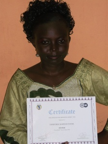 D.DAF won the African FOSS reporter award 2012, in Abuja-Nigeria
